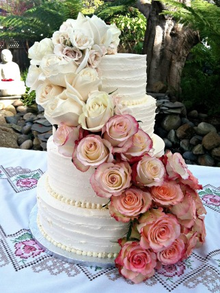 Valentine's Day wedding cake