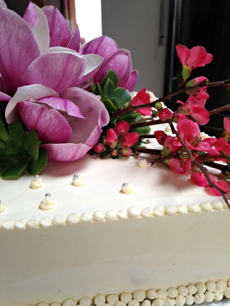 Detail of 50th birthday cake